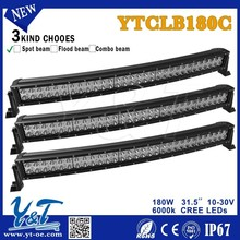 Aliu firm mounting brackets 180w 31.5inch LED curved Light Bar SUV Offroad