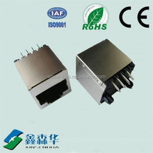 180 degree Shield Top entry integrated rj45 male to female connector