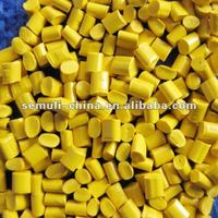 Plastic Color Yellow Masterbatch With High Concentration for Film Blowing/Injection Moulding/Extruded Sheet