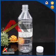 500ml 0.5l 16oz 18oz hot sale pet plastic bottle for fresh juice carbonated beverage with colourful 30mm screw caps