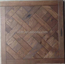 White Ash/Oak parquet flooring