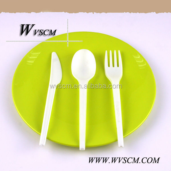 Biodegrdable corn starch lunch box cutlery set
