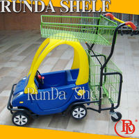 pull along foldable cart shopping bag trolley with four wheels