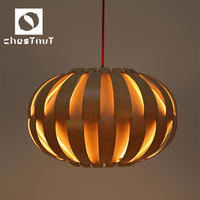 Modern carved wooden indoor decorative ceiling pendant lamp home decor