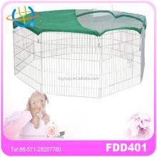 metal wire pet dog playpen with plastic top