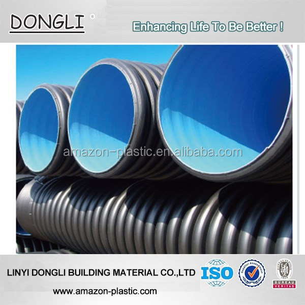 Dn200mm Sn8 Hdpe Double Wall Corrugated Dwc Pipe Culvert