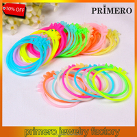 PRIMERO New colorful Color Luminous Silicone Bracelet Rubber Bands Women Girls Elastic Hair Band Wristband