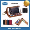 Remax brand bag style with card slot wallet leather hot selling for iphone6 case