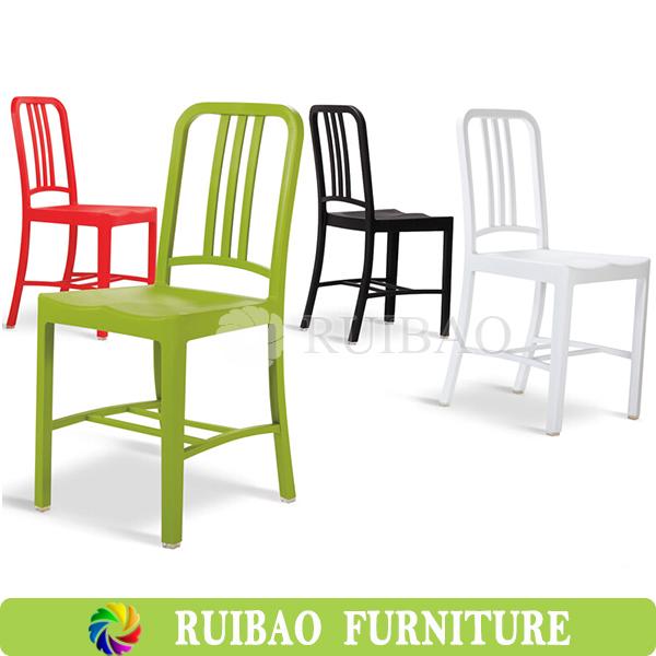 Cheap Outdoor Furniture Galvanized Steel Metal Chair Navy Chair Iron Vintage Industrial Chair