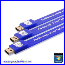 Promotional free logo bracelet usb flash disk with factory price