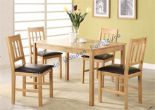 SD-2817 oak mordern dining table with four chairs