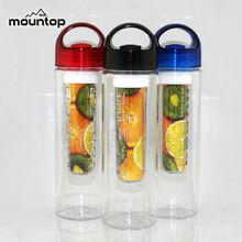 2015 New Design Foldable plastic easy to take Orange Lemon Infuser Water Bottles