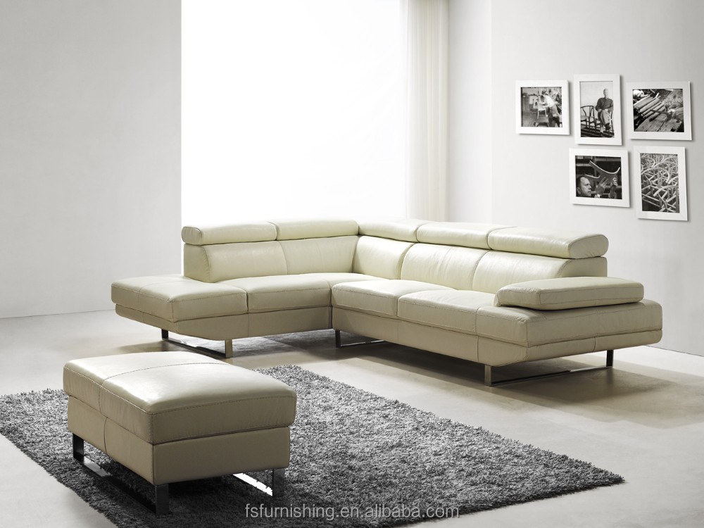 Jr8040 stylish modern living room italy genuine cow white for Where to get cheap sofas
