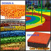 Colorful and adventure soft playground rubber mulch for kids FN-J-0319-12