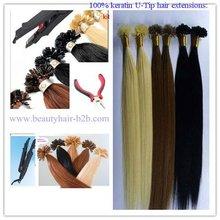 6A, 7A, 8A 100% human hair high quality cheap wholesale 0.5/0.8/1.0g peruvian/Indian hair pre bonded Keratin hair U/I tip hair