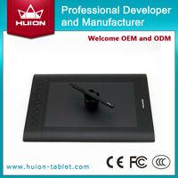 2014 hot sale! Shenzhen big active area Huion H610PRO graphics tablet 5080 LPI 2048 Levels 233 RPS with rechargeable pen