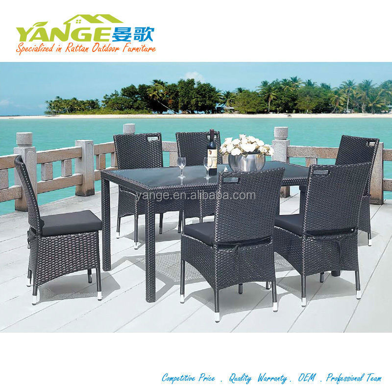 High Quality Pe Rattan Dining Set Outdoor Furniture Yg