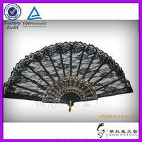 nylon foldable hand fans lace spanish fans 3d picture nude hand fan