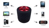 Low Price Swivel Black Tyre Mini Speaker