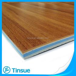 Wood color look PVC basketball sports flooring