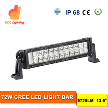 ATV Accessories 2015 Auto Parts Double Rows LED Light Bar for Truck 72W LED Light Bars for Trucks 4WD LED Light Bar