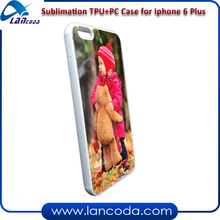 DIY blank sublimation tpu phone cover for iPhone6s/iphone 6s + plus