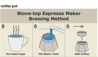 Aluminum and stainless steel espresso coffee pot moka pot /Aluminium coffee pot