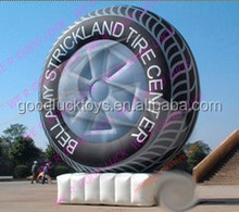 promotional inflatable billboard tyre for advertising,PVC inflatable tyre