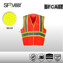 CSA Z96-09 new style 100% polyester mesh fabric police working reflective safety vest hi vis vest for security
