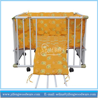 Safety Care Folding wooden baby playpen fence