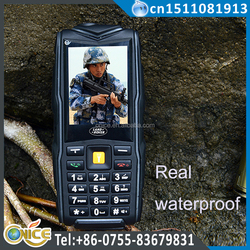 F8 waterproof dual sim mobile phone low price 2.4 inch IP67 big battery 8800 mah 50M flashlight waterproof shockproof phone
