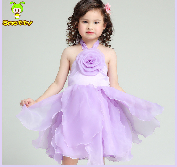 Flower Girl Dresses In Purple And White 49
