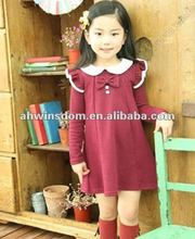 2012 girls fashion princess long sleeve dress