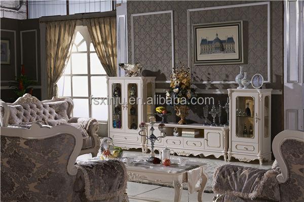 Luxus italienischen holz geschnitzt wohnzimmer möbel-set htk01 ...