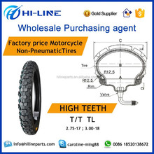 2.75-17 3.00-18 T/T TL high teeth motorcycle tyre wholesale product sourcing services in guangzhou