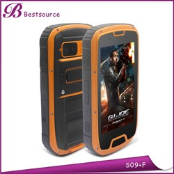Hot selling MTK6589W Quad core1.2G Android 4.2 Dual sim GSM WCDMA 1G+4g 4.3inch IP68 walkie talkie rugged phone