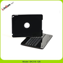 360 degree rotating stand hard case cover bluetooth keyboard for ipad air 2