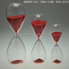 factory price wholesale decorative customized art glass hourglass