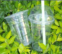 Hot sale 16oz clear disposable plastic cup with lid for ice cream/ milktea/ cold drinking/cold coffee/ beer