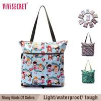 vivisecret 2015 flower design attractive customized foldable shopping bag