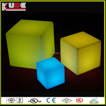 color changing plastic led cube seat lighting for christmas