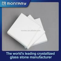 White artificial stone compact kitchen countertops