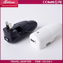 portable travel adapter with car charger