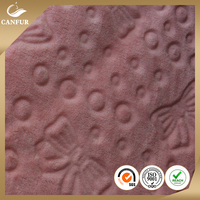 100% Polyester Knitted Coral Fleece Fabric for Blanket or Bathrobe