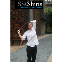2014 100% de moda casual blusa de lino para el modelo de blusa de gasa
