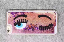 New arrival Cell Phone bling hard PC Eye case quicksand stars case for iphone made in china
