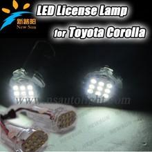 Top vendita 12v led di illuminazione della targa di licenza, luce posteriore per corolla modello di auto