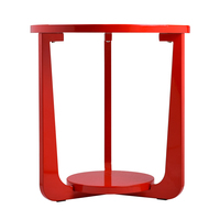 2015 round table top red sofa and bed end table