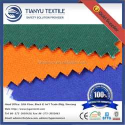 Hot Sale ! Good Color Fastness 20x16 Twill Drill Workwear Fabric Polyester Cotton Solid Twill Fabric