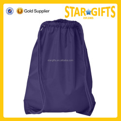 Hot sale top quality travel nylon cheap plain drawstring bags